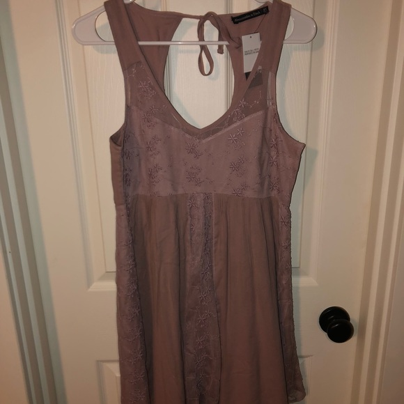 Abercrombie & Fitch Dresses & Skirts - NWT Dusty Mauve Colored Abercrombie Mini Dress!!!
